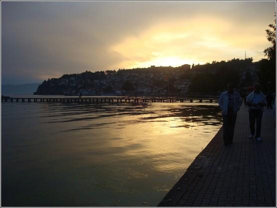 Ohrid coucher de soleil