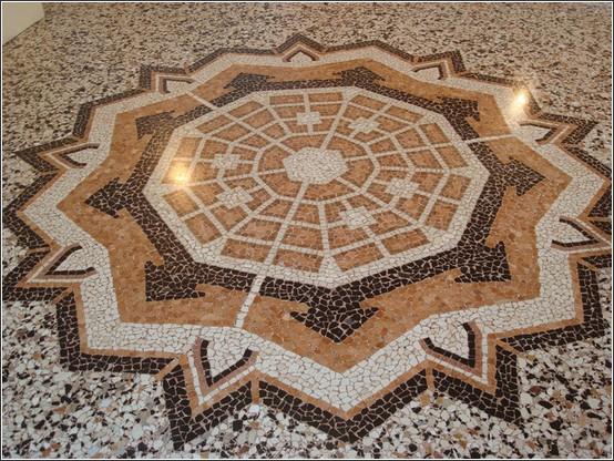 Palmanova mosaique de la forteresse