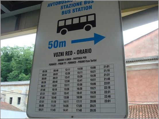 Piran autobus station