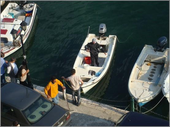 Sarande port bateaux