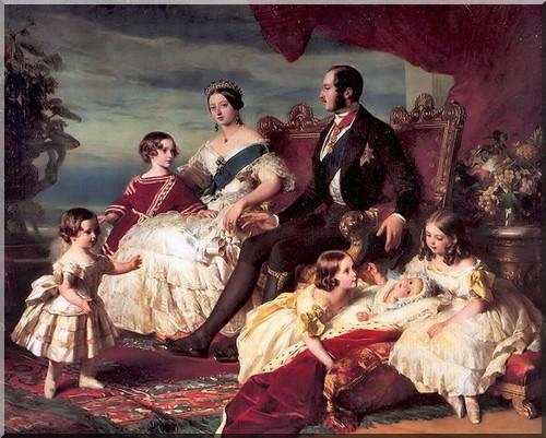 Victoria Albert et la famille Royale