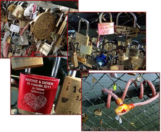 cadenas amoureux ponts paris romantique