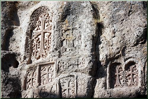 khatchkar monastere de gueghard armenie