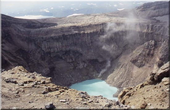 lac cratere volcan du Goreli