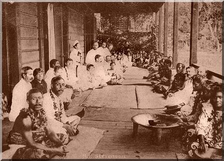 Stevenson dans les Samoa