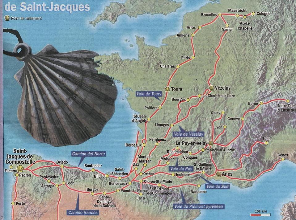 Chemin de saint jacques vers compostelle chemins battus - Office du tourisme saint jacques de compostelle ...