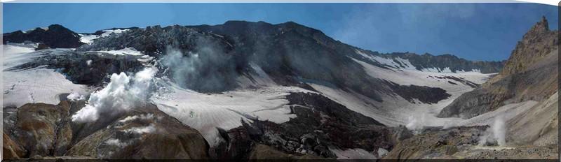 Panoramique dans le cratère du Moutnovski