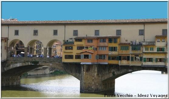 Ponte Vecchio maisonnettes colorees