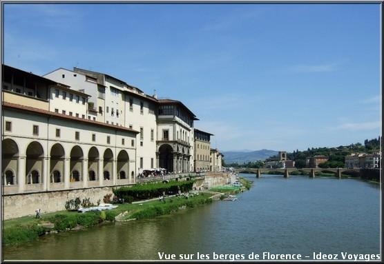 Vue de Florence depuis Ponte Vecchio