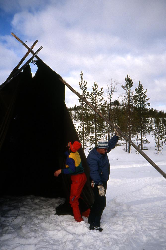 Laponie Bivouac tente