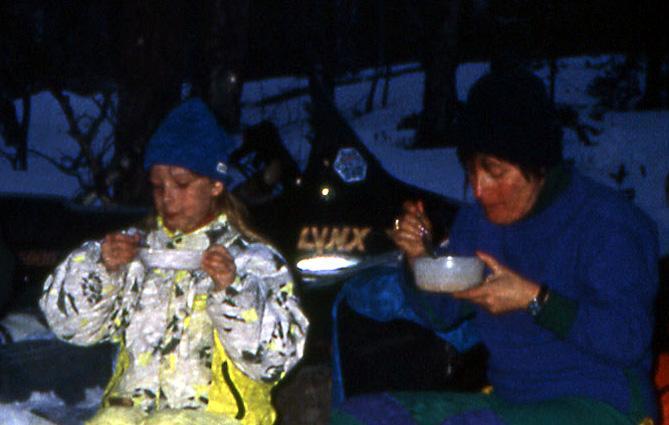 Laponie bivouac repas