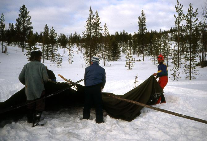 Laponie tente bivouac
