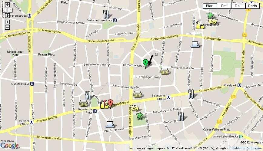 Localisation Barbarossa location appartement berlin