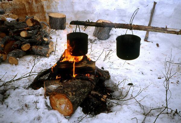 bivouac feu Laponie