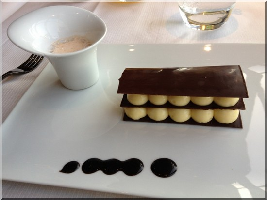 ciel de paris tea time millefeuille chocolat mousse citron