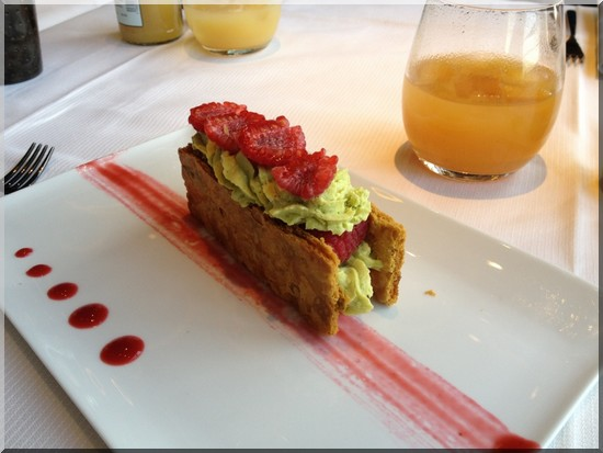 ciel de paris tea time millefeuille framboises pistaches