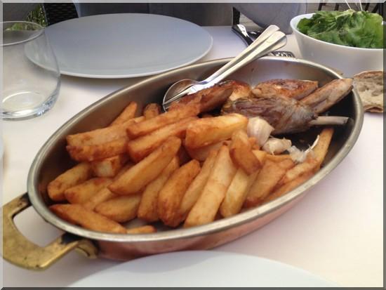 poulet roti frites chez Drouant restaurant paris