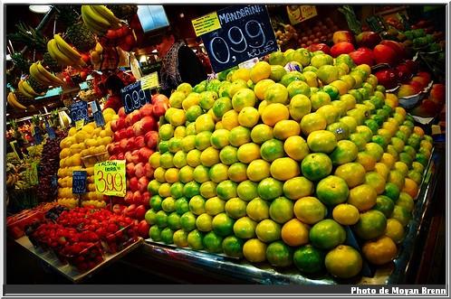 Barcelone Mercat de la Boqueria fruits