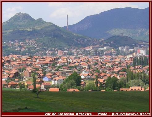 Kosovska Mitrovica vue de la ville