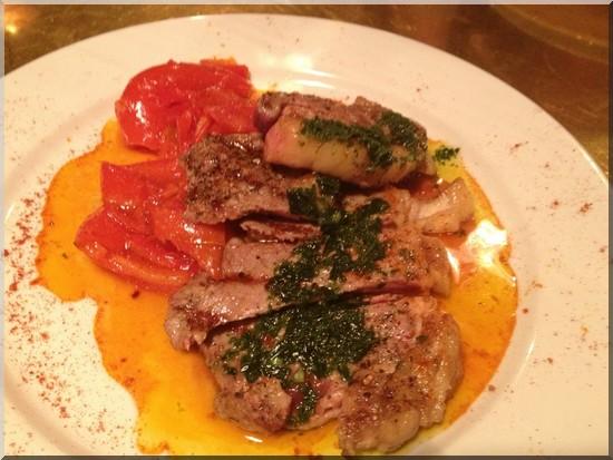Restaurant dock kitchen echine de porc