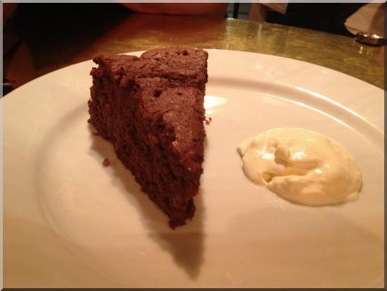Restaurant dock kitchen gateau au chocolat