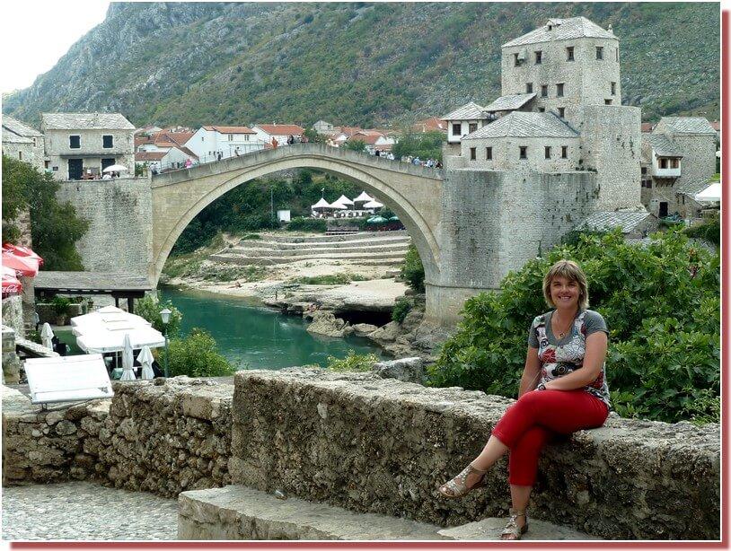 Sandrine à Mostar en 2011