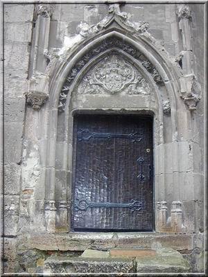 chateau hunedoara transylvanie - porte