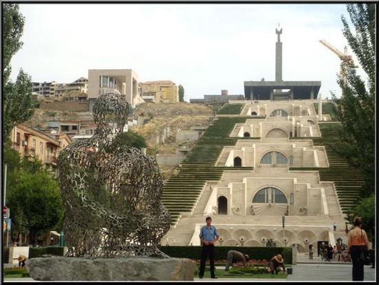 erevan armenie jardin suspendu