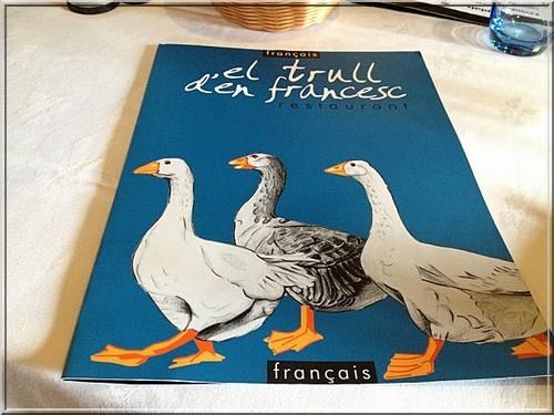restaurant el Trull d'en Francesc carte boadella d'emporda