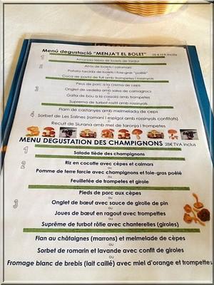 restaurant el Trull d'en Francesc menu boadella d'emporda