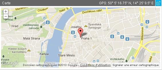 visiter prague kafka maison natale carte google