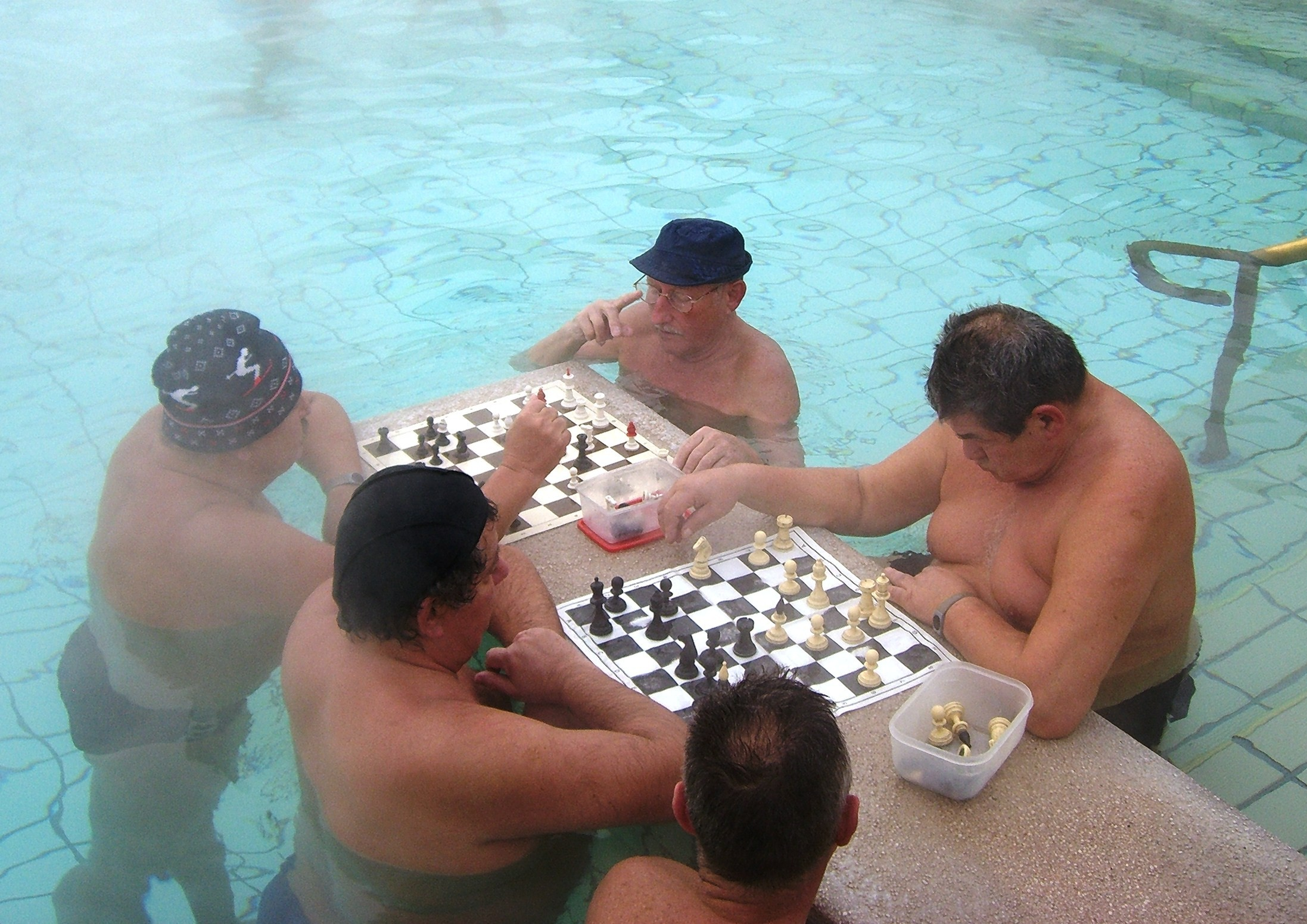jeu d'échecs bains budapest