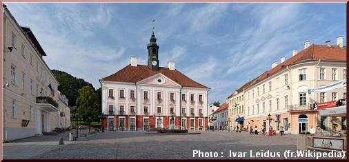 Tartu place de l'hotel de ville