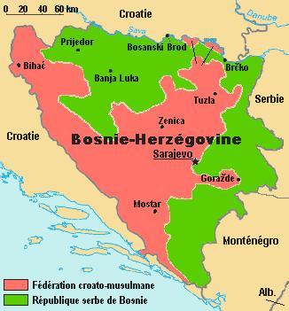 Bosnie Herzegovine carte
