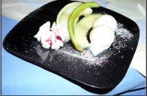 Dessert glace et melon restaurant zum zecher