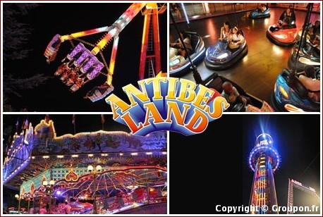 antibes land parc d'attractions