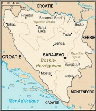 carte Bosnie herzegovine