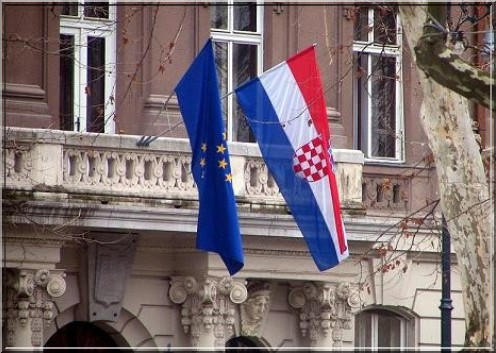croatie union europeenne drapeau
