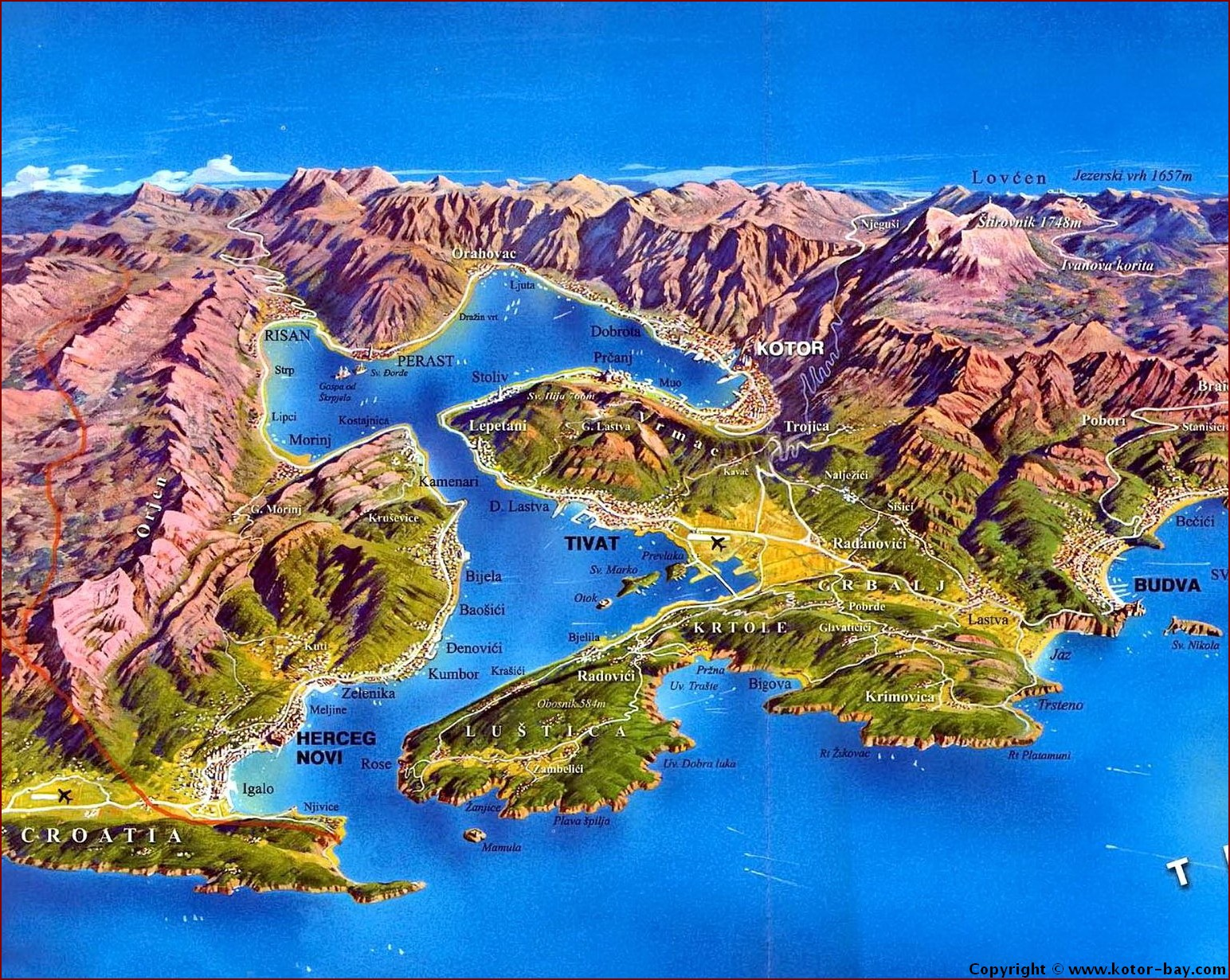 Porto Montenegro Karte.Kotor Montenegro Mini Budva Tivat Datasheet
