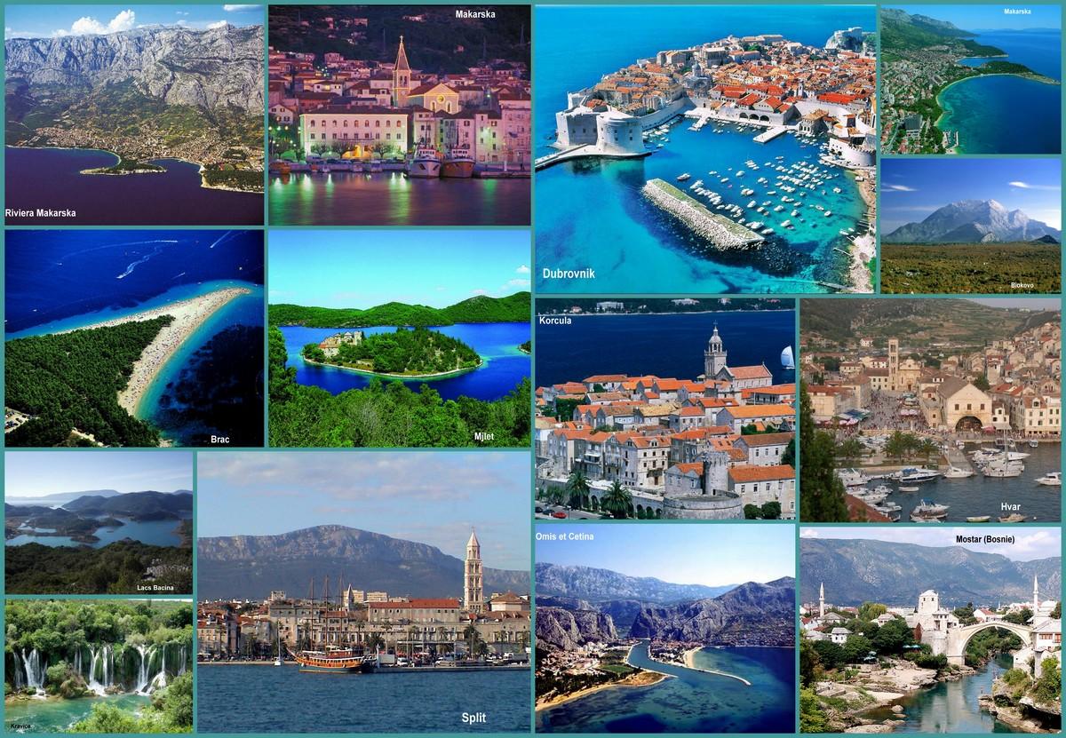 voyage dalmatie centrale et du sud Croatie