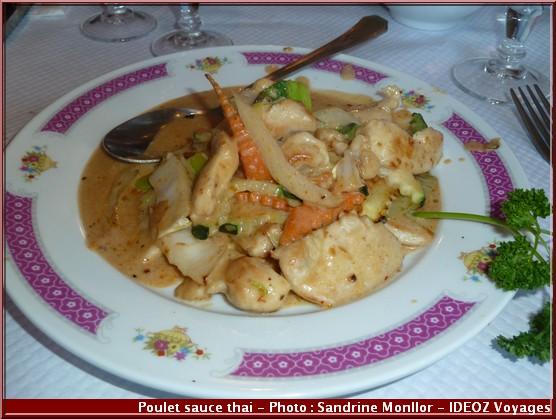 restaurant aux delices d'asie auzeville tolosane poulet sauce thai