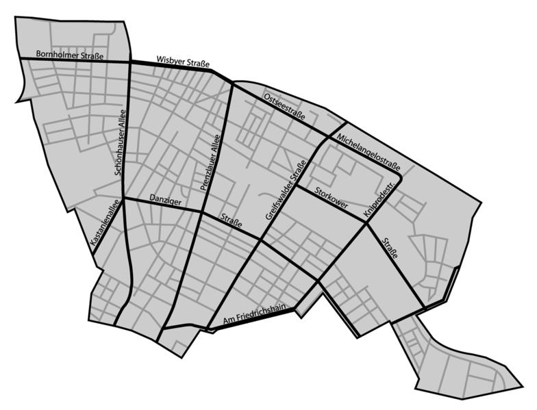 Plan berlin prenzlauer berg