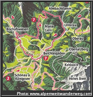 carte circuit berchtesgaden excursions