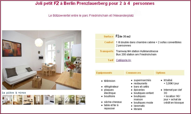 Location appartement berlin prenzlauer berg : Hufeland