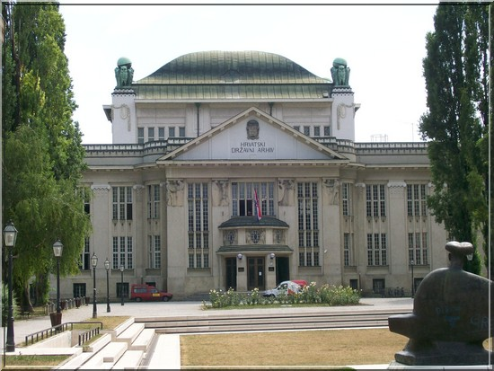 zagreb archives nationales croatie