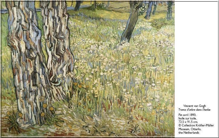 Van Gogh Troncs arbre dans herbe