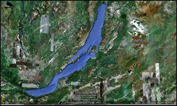 lac baikal google earth