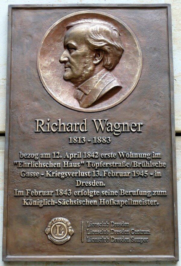 Dresden Wagner plaque commémorative