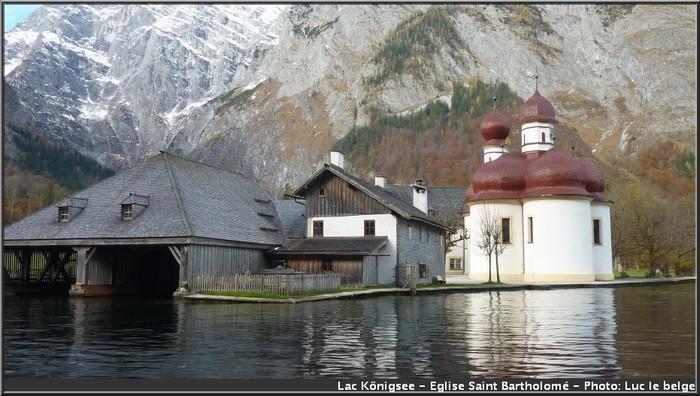 Eglise saint Bartholomé Lac Konigsee