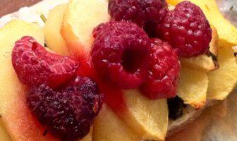 Filet truite pommes framboises